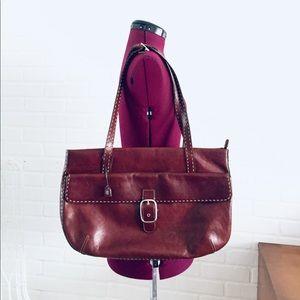 Oxblood Leather Shoulder Bag Tote Purse El Portal
